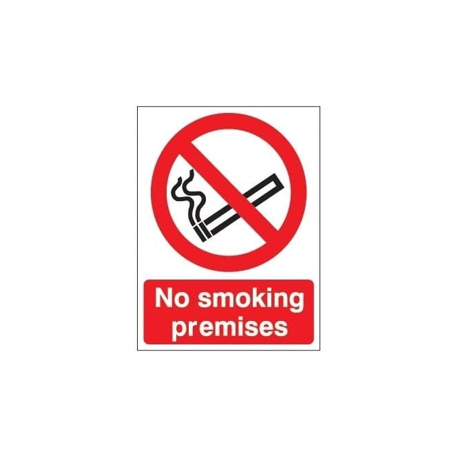 No Smoking Premises Sign
