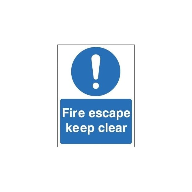 Non-slip Floor Sign: Fire Escape Keep Clear