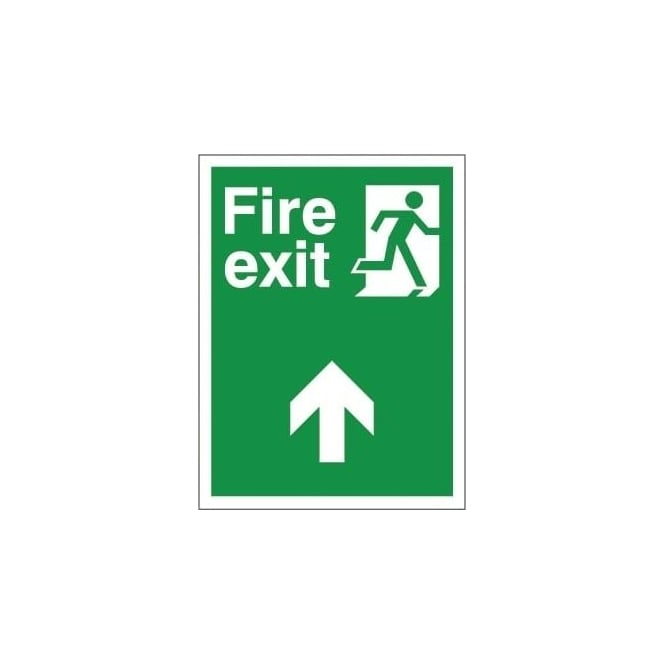 Non-slip Floor Sign: Fire Exit (Ahead)
