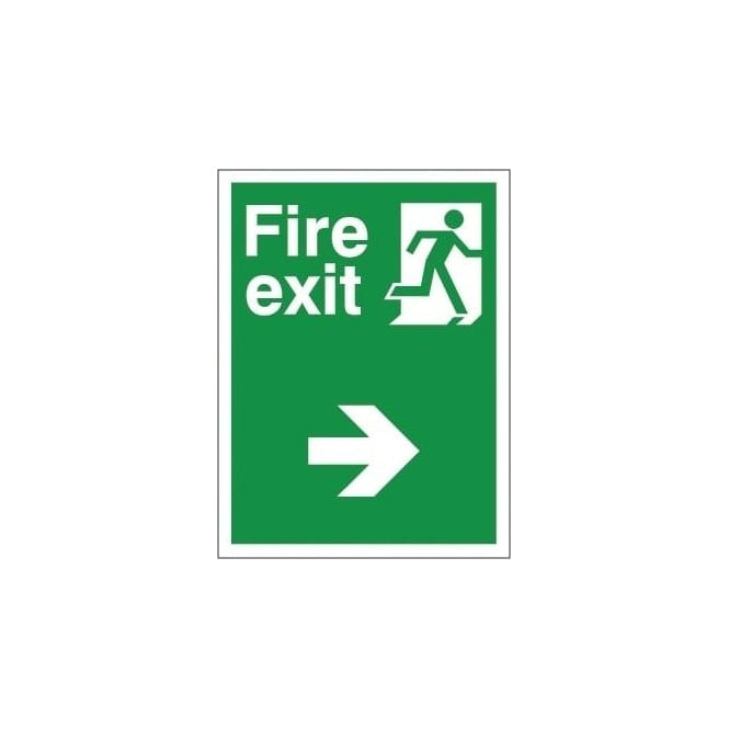 Non-slip Floor Sign: Fire Exit (Right)