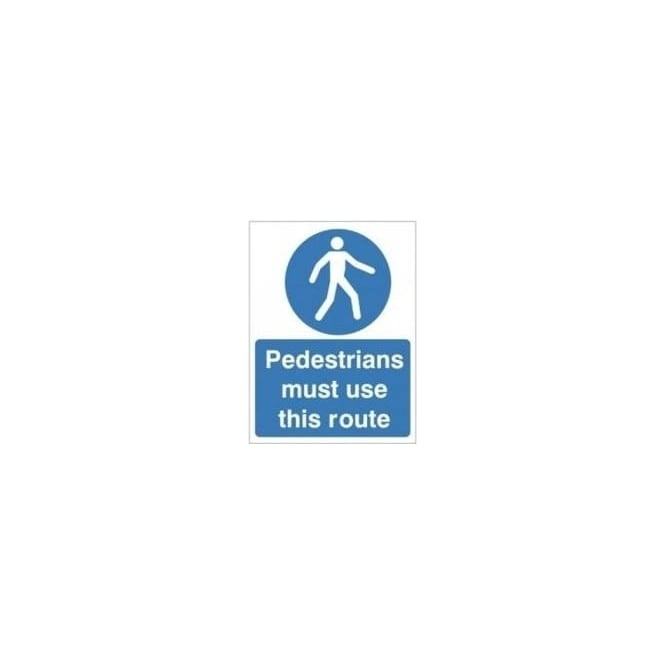 Non-slip Floor Sign: Pedestrians must use this route