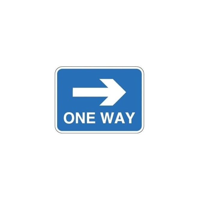 One Way (Right) Sign