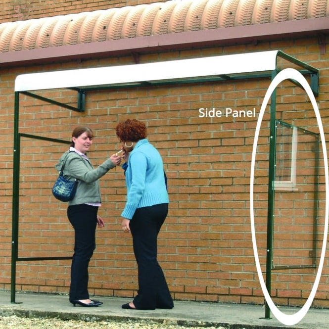 Optional Single Side Panel for Wall Mounted Smoking Shelter
