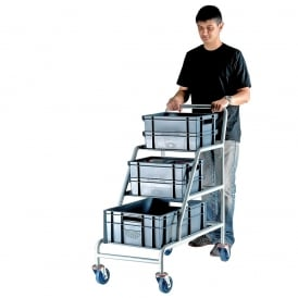 Order Picking Trolley with Euro Containers