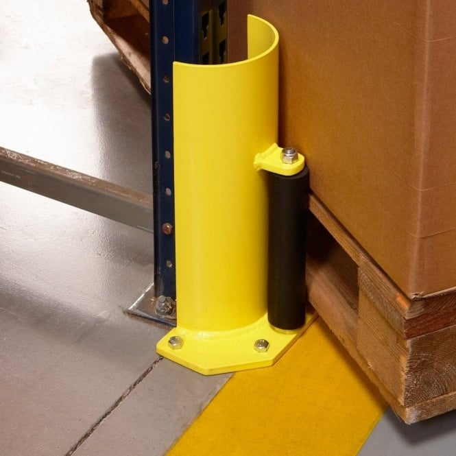 Pallet Racking Protector with Roller Guide