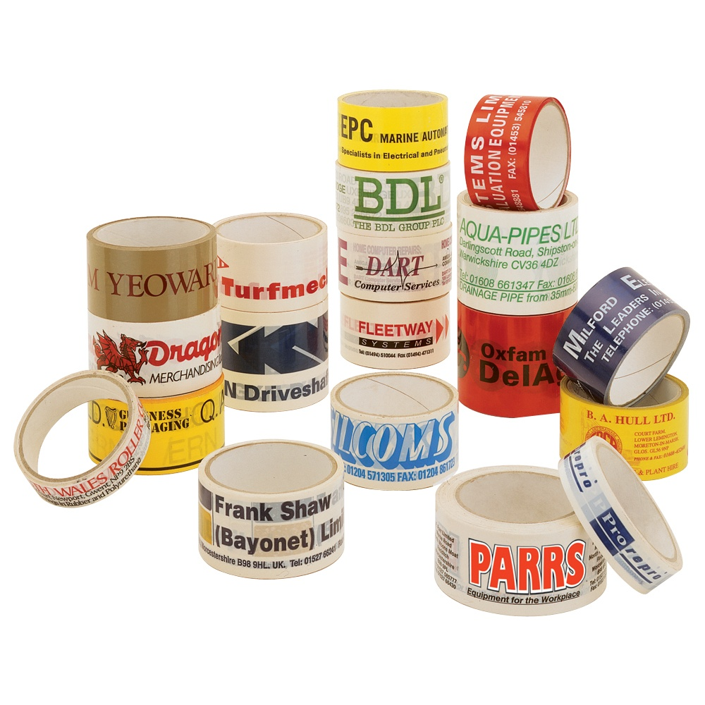 Personalised pvc printed sealing tape from parrs