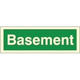 Photoluminescent - Basement Sign