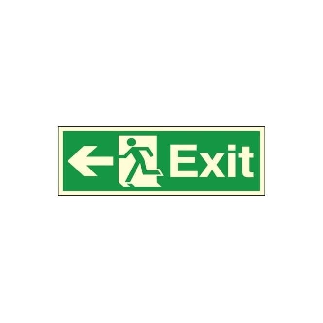 Photoluminescent - Exit - Arrow Left Signs