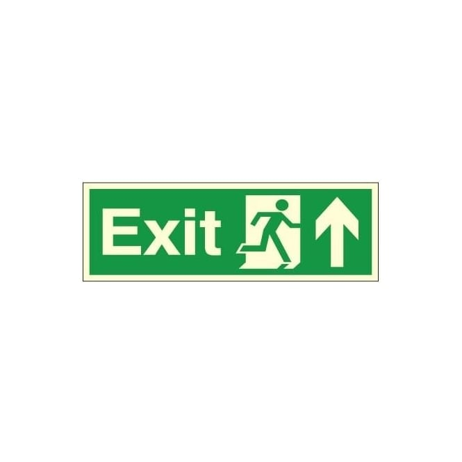 Photoluminescent - Exit - Arrow Up Signs