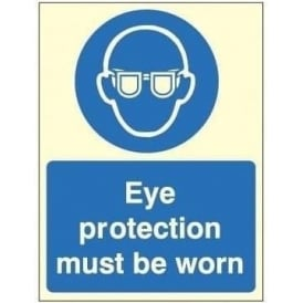 Photoluminescent - Eye protection must be worn sign