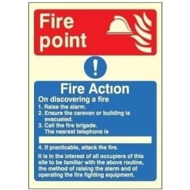 Photoluminescent - Fire Action Notice
