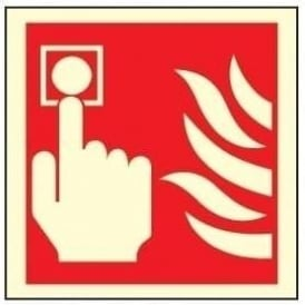 Photoluminescent - Fire Alarm Sign