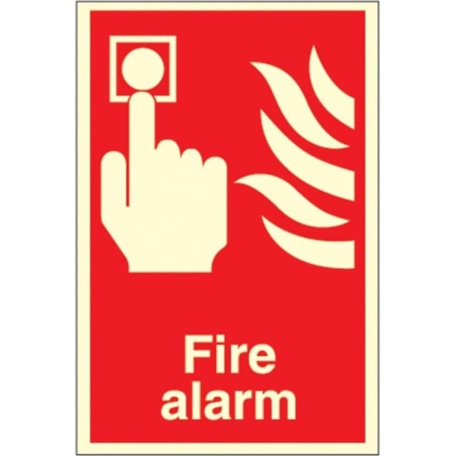 Photoluminescent Fire Alarm Signs