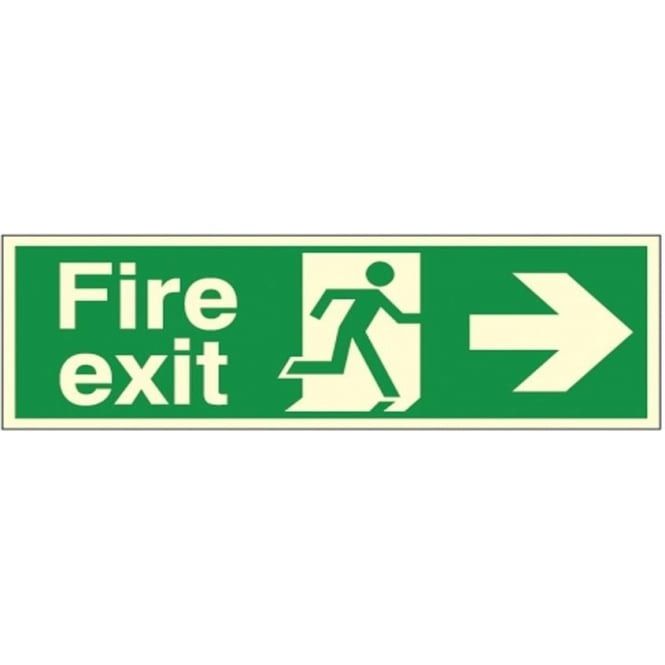 Photoluminescent - Fire exit - Arrow Right Signs