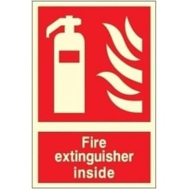 Photoluminescent - Fire Extinguisher Inside Sign