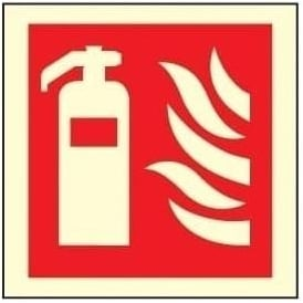 Photoluminescent - Fire Extinguisher Sign