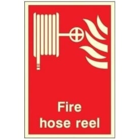 Photoluminescent Fire Hose Reel Signs