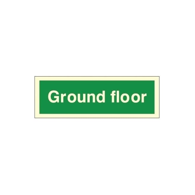 Photoluminescent - Ground Floor Sign