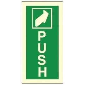 Photoluminescent - Push Signs