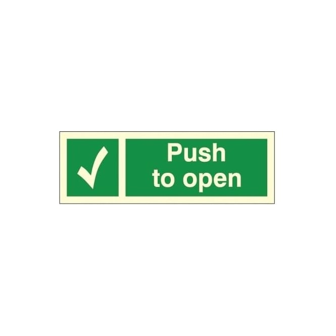 Photoluminescent - Push to open Signs