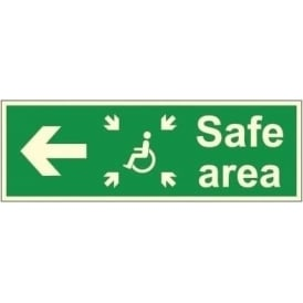 Photoluminescent - Safe Area - Arrow Left Signs