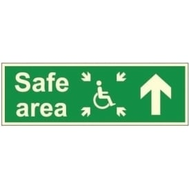 Photoluminescent - Safe Area - Arrow Up Signs