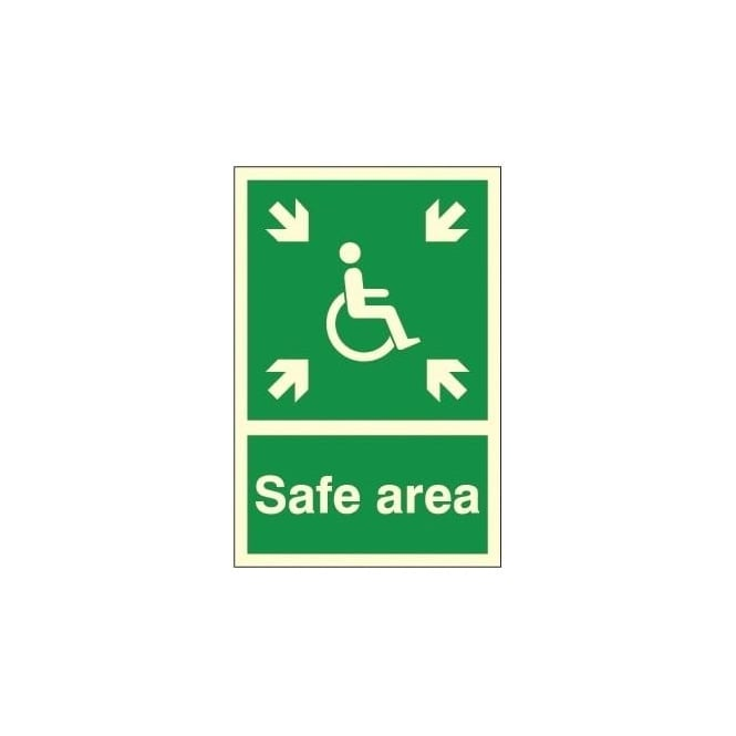 Photoluminescent - Safe Area Signs