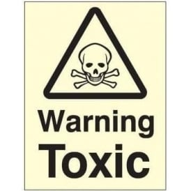 Photoluminescent - Warning Toxic Sign