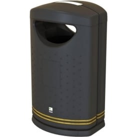 Pioneer Litter Bin with or without stubber plate Cap: 130lt