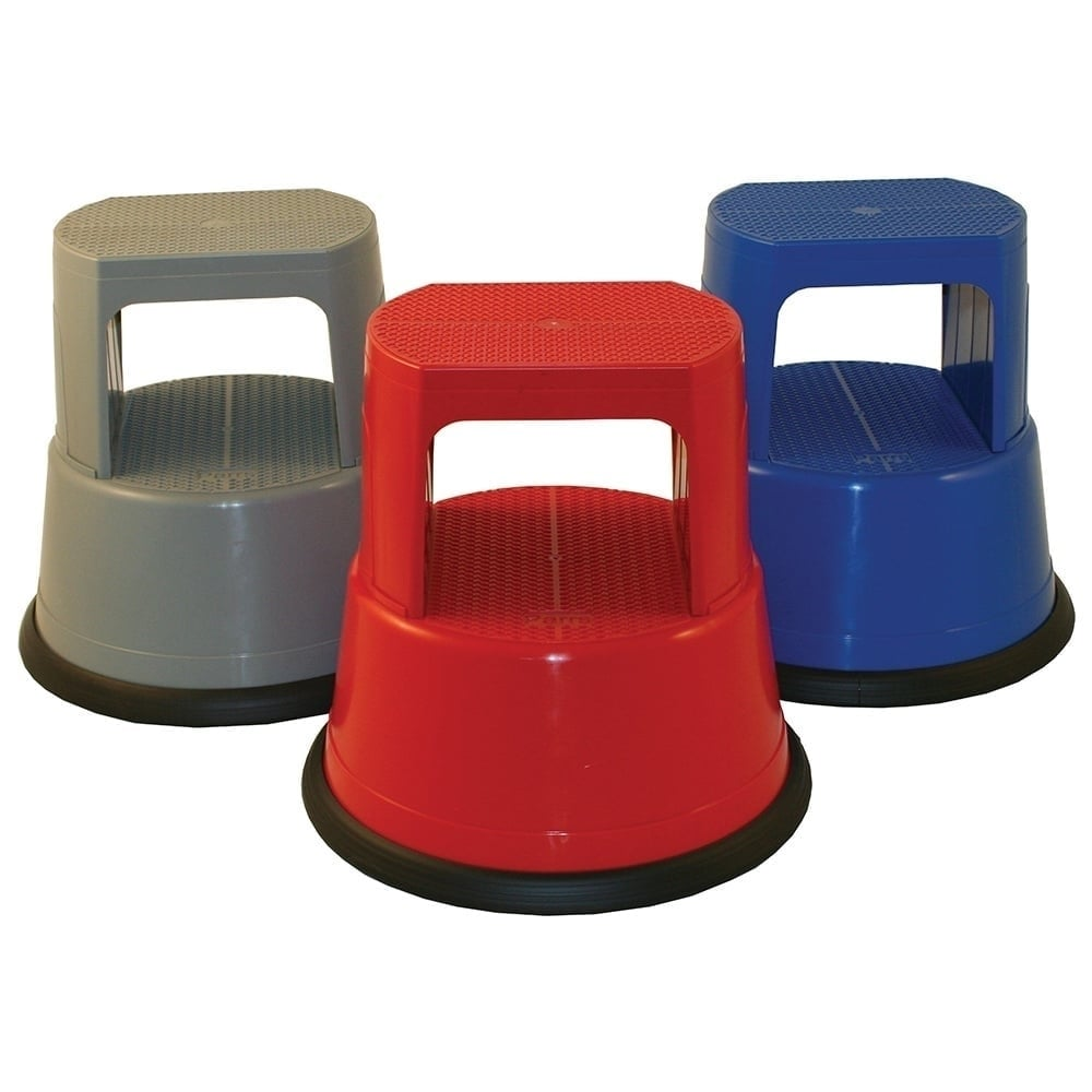 Plastic Kick Step Stool By Roll Step Parrs Workplace