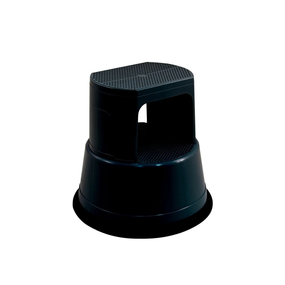 Recycled Black Plastic Kick Step Stool Parrs Workplace