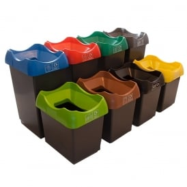 Plastic Recycling Bins Cap: 30lt or 50lt