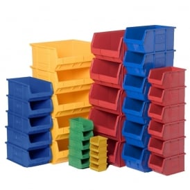 Plastic Small Parts Picking Containers - Coloured