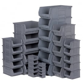 Plastic Small Parts Picking Containers - Eco Grey