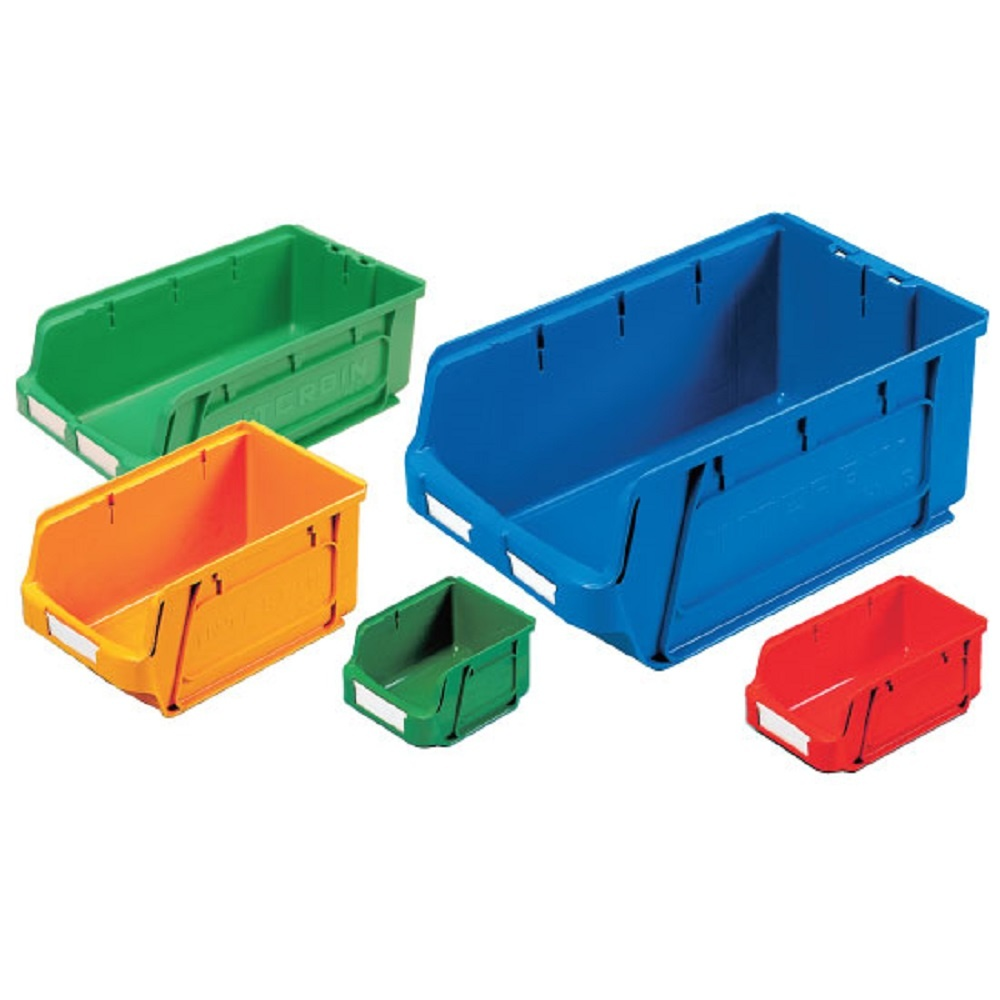 plastic small parts picking storage containers coloured - Small Storage Containers