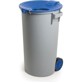 Plastic Wheelie Waste Bin with Funnel Lid Cap: 80lt