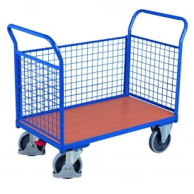 Platform Truck with 3 Mesh Side Panels Cap: 500kg