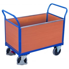 Platform Truck with 4 Beech Side Panels Cap: 500kg
