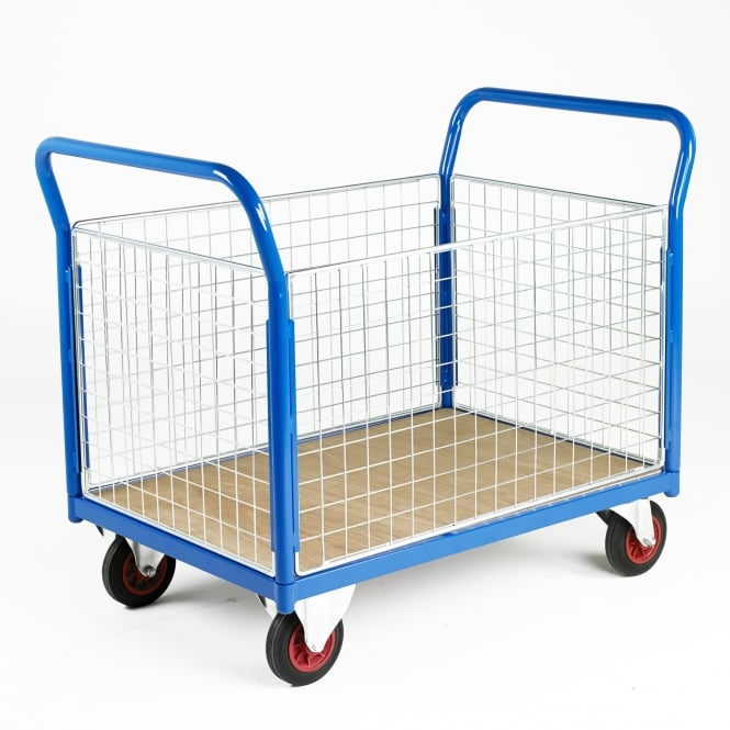 Platform Trucks - Plywood Base and 4 Mesh Side Panels Cap: 700kg