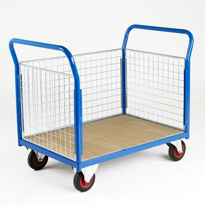 Platform Trucks - Plywood Base with 3 Mesh Side Panels Cap: 700kg