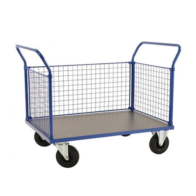 Platform Trucks with melamine platform & 2 mesh ends & 1 mesh side Cap: 500kg