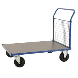Platform Trucks with melamine platform and mesh end Cap: 500kg