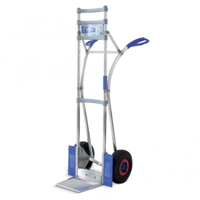 Pneumatic Aluminium Stacking Sack Truck with high back Cap: 300kg