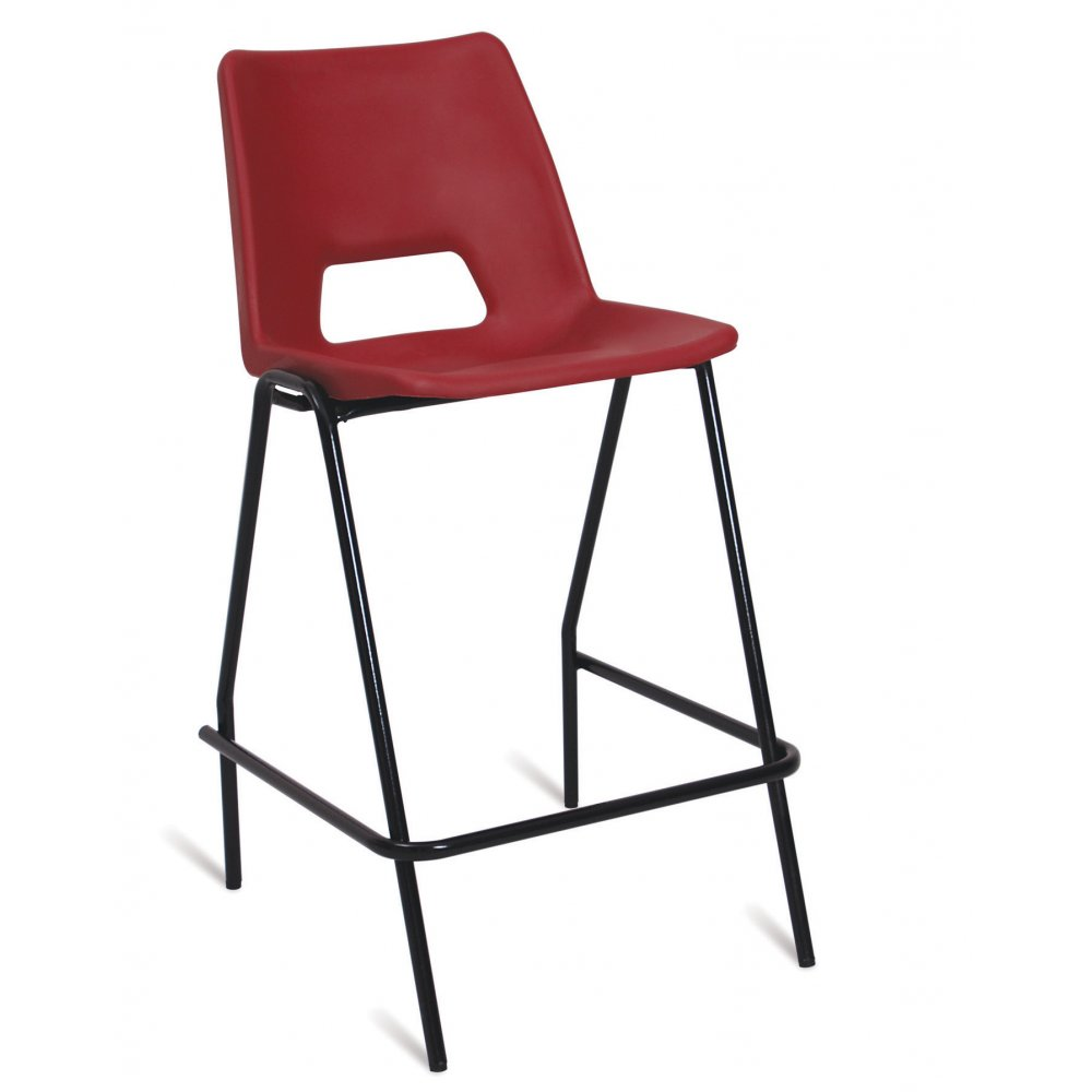 polypropylene high chair with optional padded seat back seating