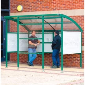 Premier Smoking Shelter with perforated steel side/back panels