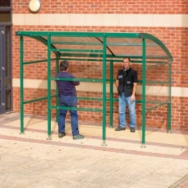 Premier Smoking Shelter with perspex side/back panels