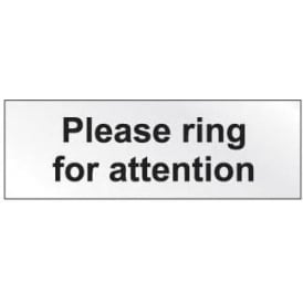 Prestige Door Sign - Please Ring For Attention