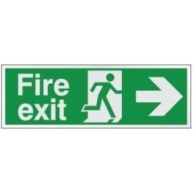 Prestige Fire exit - Arrow Right Signs