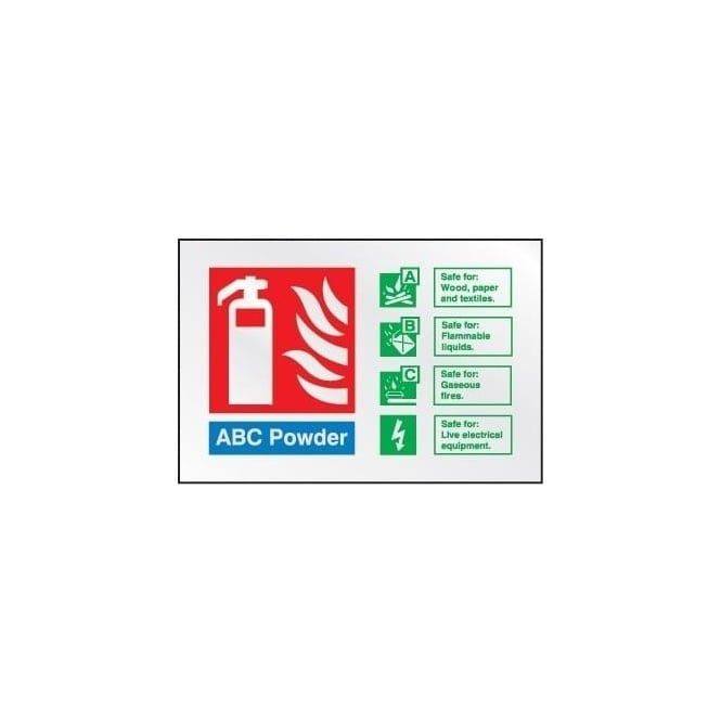 Prestige Fire Extinguisher Identification Sign: ABC Powder