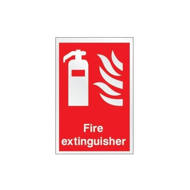 Prestige Fire Extinguisher Identification Sign: Fire Extinguisher
